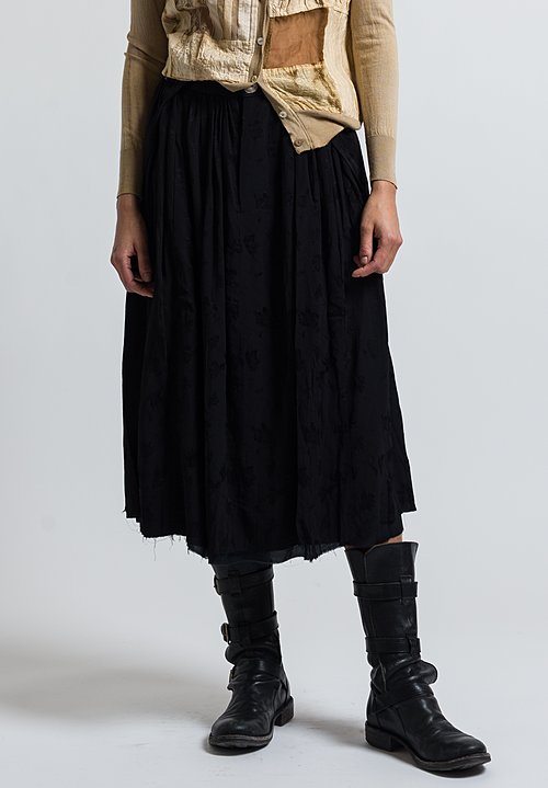 A Tentative Atelier Jacquard Geovgeas Skirt in Black