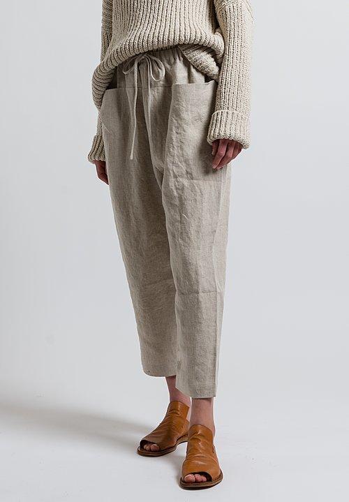 Lauren Manoogian Linen Pocket Pants In Flax Santa Fe Dry