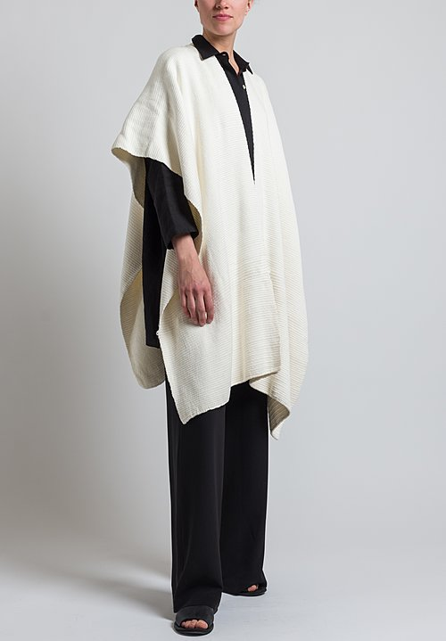 VOZ Short Cotton Duster in Ivory