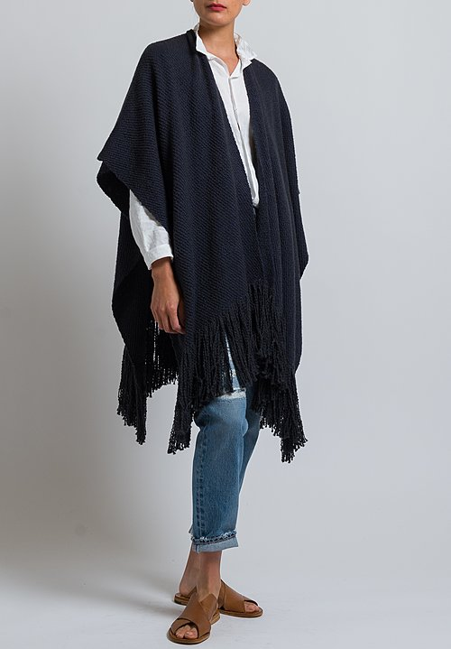 Wehve Pima Cotton / Merino Wool Kaftan in Noir