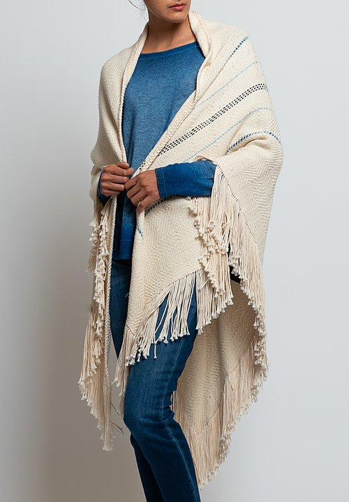 Wehve Pima Wrap Shawl in Ciel