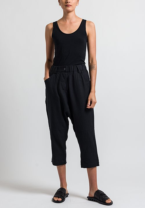 Studio B3 Ramillo Drop Crotch Pants in Black