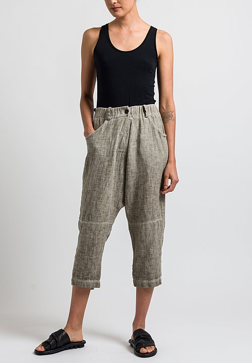 Studio B3 Ramillo Drop Crotch Pants in Olive Beige