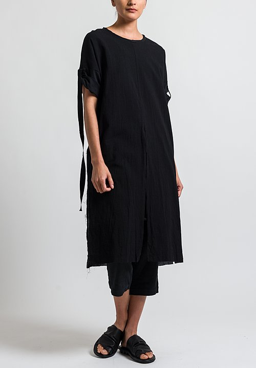 Studio B3 Cotton Milita Dress in Black