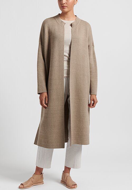 Agnona Cashmere/ Silk/ Cotton Crewneck Cardigan