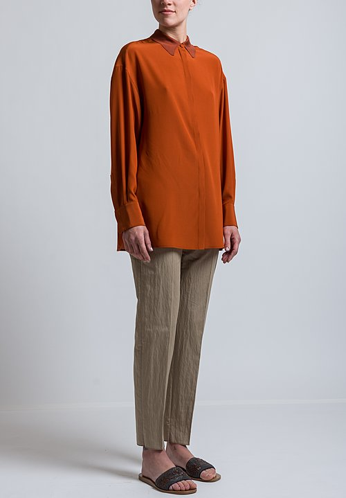 Agnona Long Formal Trousers in Natural