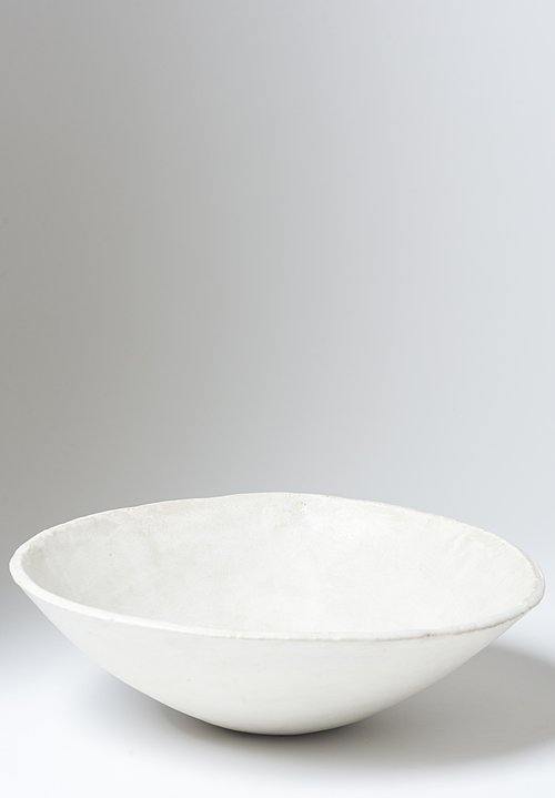 Danny Kaplan Handmade Ceramic Medium Serving Bowl in White