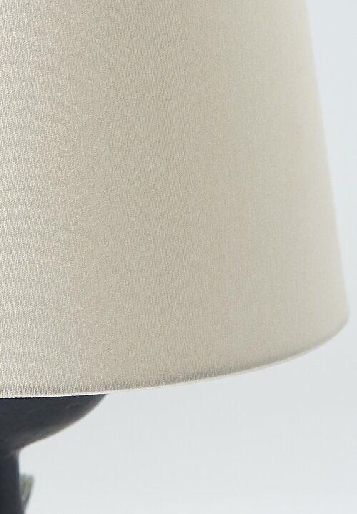 Danny Kaplan Handmade Ceramic Simple Lamp in Black