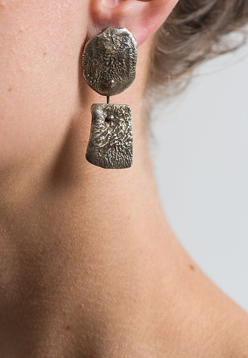 Holly Masterson Hand-Formed Oval Plates with Square Drop Earrings