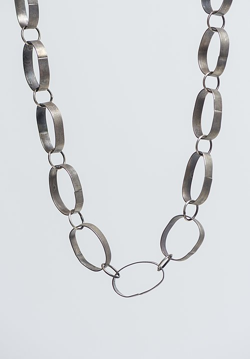Holly Masterson Sterling Silver Oval Link Necklace