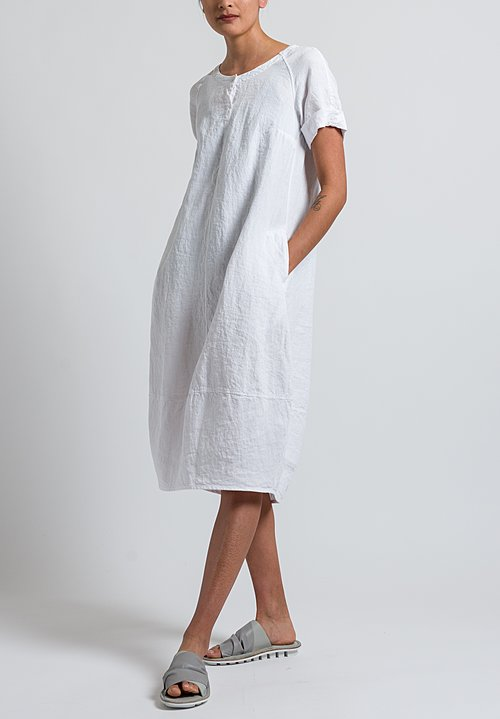 Oska Linen Pleni Dress in White