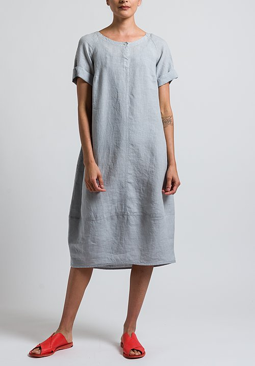 Oska Linen Pleni Dress in Chalk