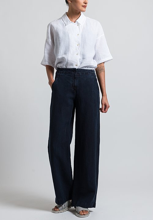 Oska Linen Sora Pants in Navy