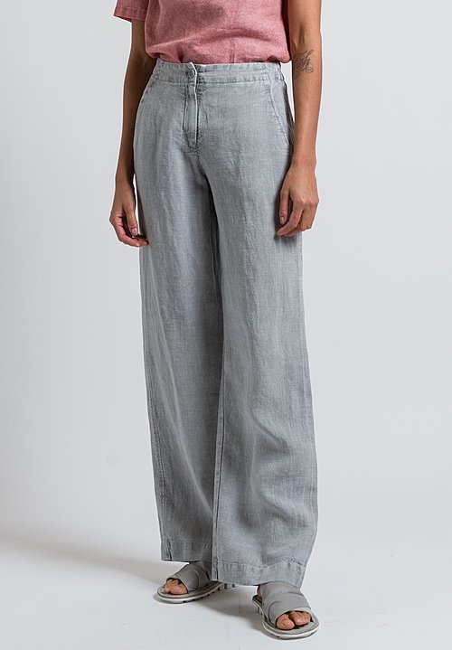 Oska Linen Sora Pants in Chalk