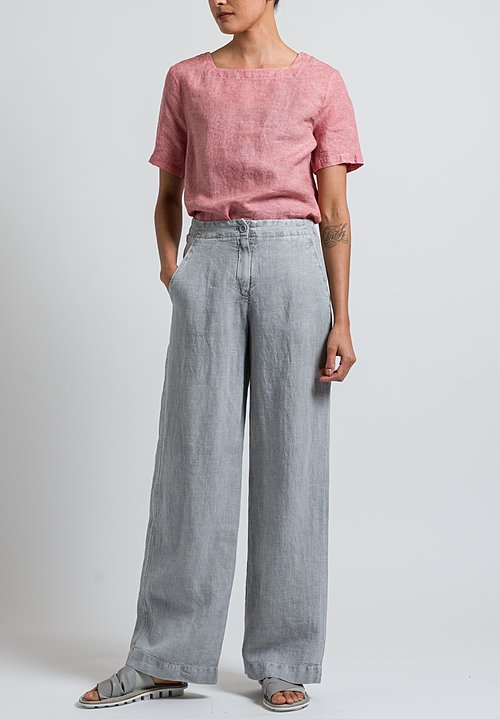 Oska Linen Sora Pants in Grey