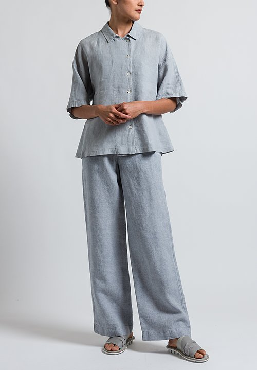 Oska Linen Ameria Shirt in Chalk