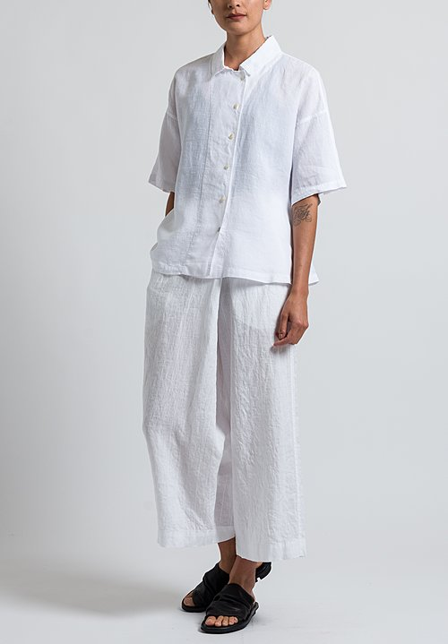 Oska Linen Ameria Shirt in White