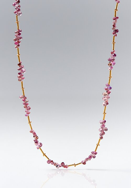 Greig Porter 18K, Sapphires Pear Bead Necklace