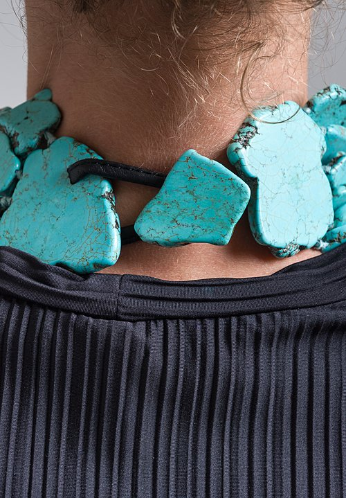 Monies UNIQUE Turquoise Slab Necklace