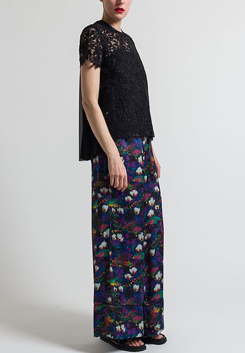 Sacai Chemical Lace Top in Black