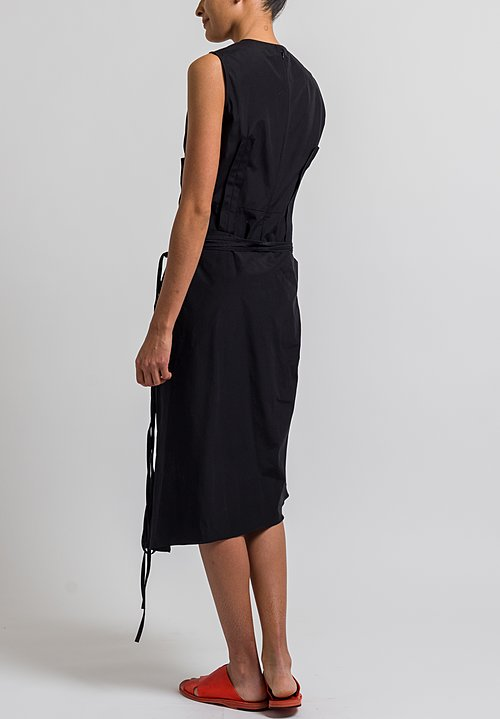 Marni Poplin Tie Dress in Black