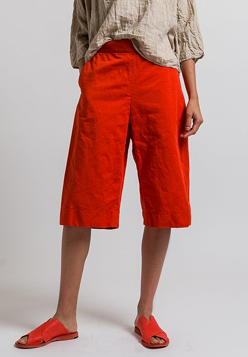 Marni Drill Shorts in Orange Red