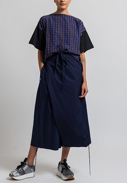 Marni Layered Wide Leg Pants in Blue Black