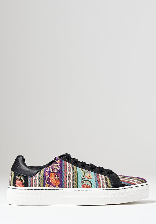 Etro Printed Paisley Sneaker in Purple Multi