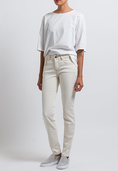 Closed Baker Long Narrow Jeans in Creme