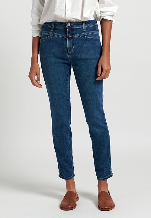 Closed Better Blue Skinny Pusher Jeans in Mid Blue