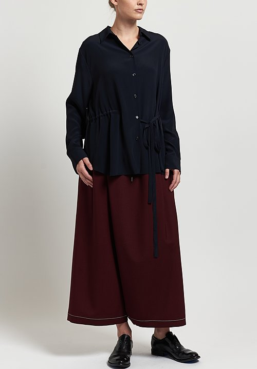 Marni Cady A-Line Coat in Blue Black