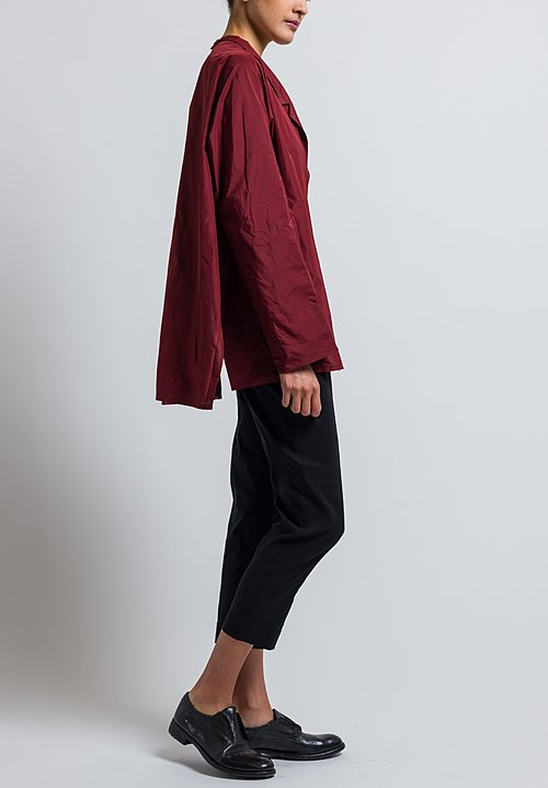 Peter O. Mahler Oversized Crash Shirt in Chili