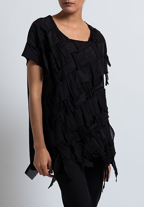 Rundholz Dip Basket Woven Top in Black