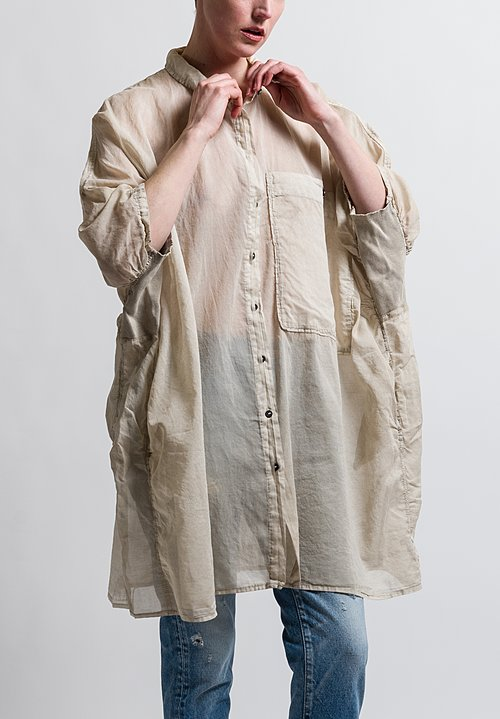 Rundholz Dip Long Large Pocket Shirt in Umbra