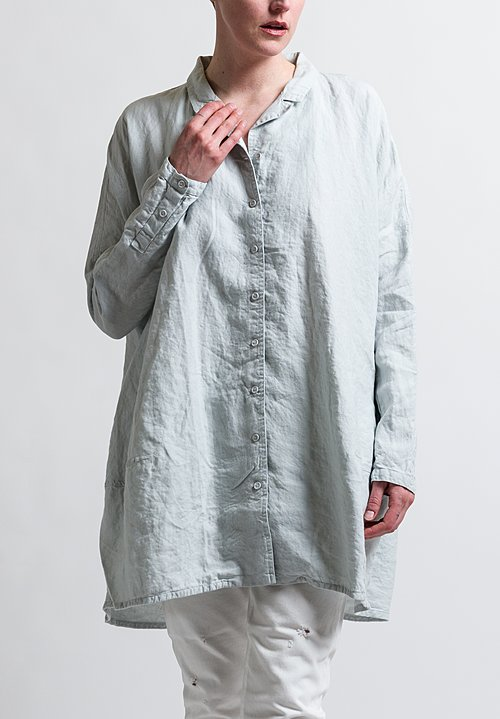 Rundholz Black Label Oversized Dolman Tunic Shirt in Grey