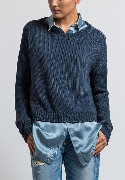 Umit Unal Loose-Knit Sweater in Slate