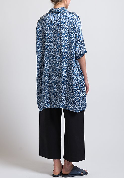 Casey Casey Long Oversized Shirt in Blue
