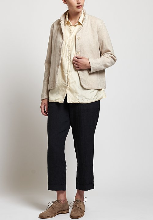 Casey Casey Habotai Shirt in Cream