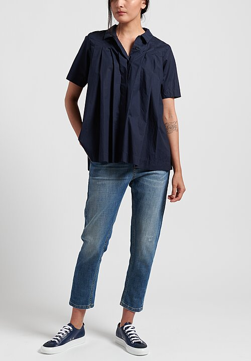 Casey Casey Laque Charlotte Shirt in Navy