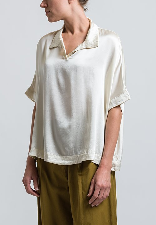 Casey Casey Crepe Summer Top in Ivory