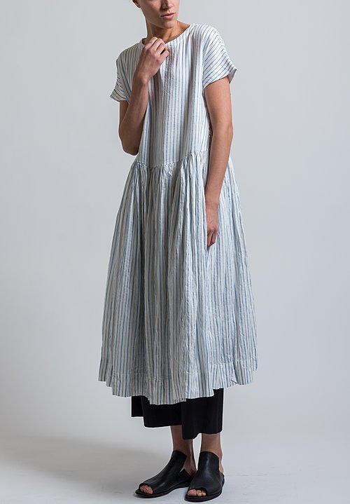 Casey Casey Striped Pasha Dress in White