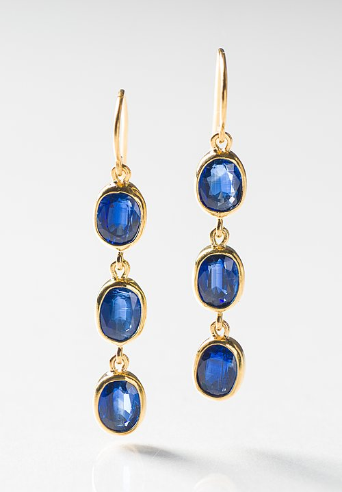 Greig Porter 22K, Kyanite Triple Drop Earrings