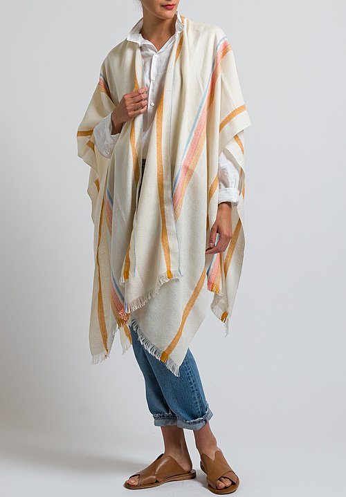 Wehve Baby Alpaka and Silk Finely Woven Poncho in Shelia