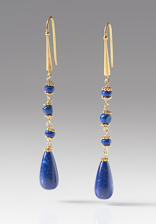 Greig Porter 18K, Lapis Teardrop Earrings