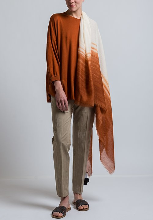 Agnona Oversized Lightweight Sweater in Rust