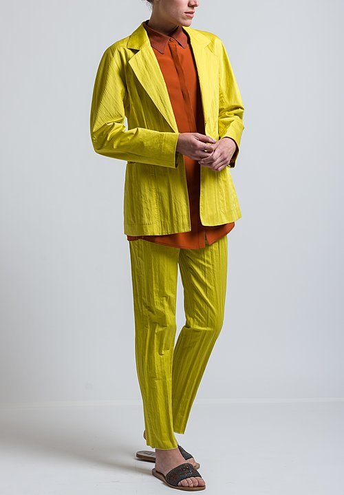 Agnona Tailored Jacket in Yellow