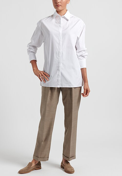 Agnona Relaxed Shirt in White