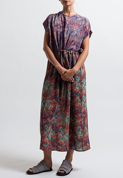 Anntian Silk Simple Printed Dress in Print N