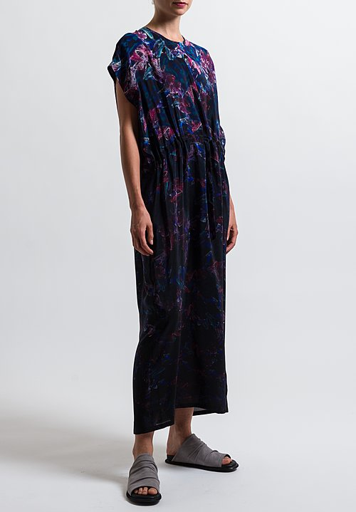 Anntian Silk Simple Printed Dress in Print F