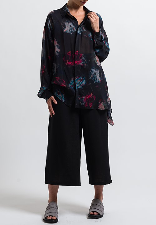Anntian Classic Oversized Shirt in Print Ooo